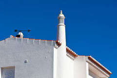 Unrecognizable Part of Residential House at Algarve, Portugal Royalty Free Stock Photo