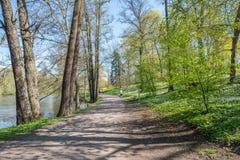 Spring atmosphere in Norrköping, Sweden Stock Photography
