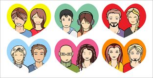Unrecognizable people faces Royalty Free Stock Photo