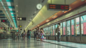 Unrecognizable People in Subway Station. In Hong Kong MTR stock video footage