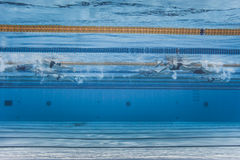 Unrecognizable Professional Swimmers Training Stock Photos