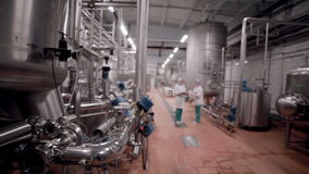 Unrecognizable Researcher team working in pharmaceutical factory. stock video