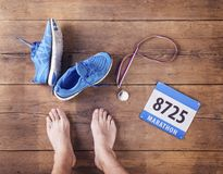 Unrecognizable runner Stock Images