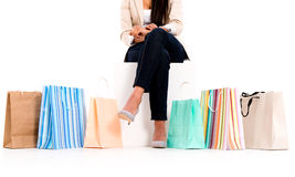 Unrecognizable shopping woman Royalty Free Stock Photo