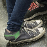 Unrecognizable teenagers wearing sneakers Stock Photography