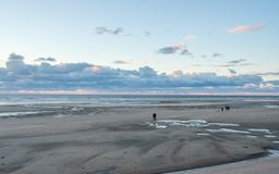 Blackpool Beach during fall royalty free stock images