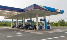 INA gas station in Novi Marof, Croatia.