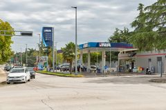 INA gas station in Porec, Crioatia. Royalty Free Stock Photography