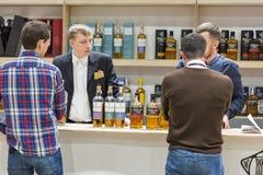 Whisky Dram Festival in Kiev, Ukraine. royalty free stock photo