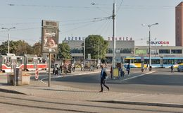 Bus station in Kosice, Slovakia. Royalty Free Stock Photo