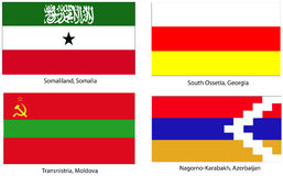 Unrecognized states flags stock photography