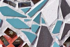 Unregelmäßige Glasfliesen-Mosaik-Nahaufnahme-Beschaffenheit Stockfotos