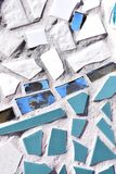 Unregelmäßige Glasfliesen-Mosaik-Nahaufnahme-Beschaffenheit Lizenzfreie Stockfotos
