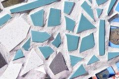 Unregelmäßige Glasfliesen-Mosaik-Nahaufnahme-Beschaffenheit Lizenzfreies Stockbild