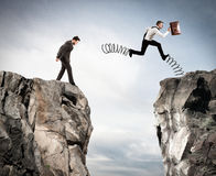 Unregelmäßiger Wettbewerb mit Hindernis Lizenzfreie Stockfotos