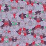 Unregelmäßiges Muster der Dreiecke im Weiß, in der Grenadine, im Rot und im Grün stock abbildung
