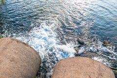 Unreines Wasser Stockbild