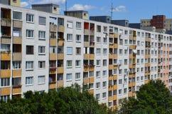 Unrenovated Soviet-era residential high-rise buildings in Petrzalka Bratislava Slovakia Europe Stock Photo