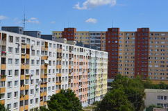 Unrenovated Soviet-era residential high-rise buildings in Petrzalka Bratislava Slovakia Europe Royalty Free Stock Photos