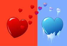 Unrequited. Vector design of unrequited love Stock Images