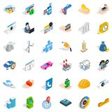 Unrest icons set, isometric style. Unrest icons set. Isometric style of 36 unrest vector icons for web isolated on white background Royalty Free Stock Photos