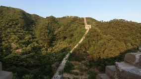 Unrestored section of the Great Wall of China, Zhuangdaokou, Beijing, China stock footage