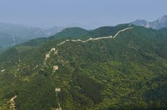 Unrestored section of the Great Wall of China, Zhuangdaokou, Beijing, China royalty free stock photos