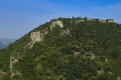 Unrestored section of the Great Wall of China, Zhuangdaokou, Beijing, China stock photos
