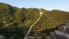 Unrestored section of the Great Wall of China, Zhuangdaokou, Beijing, China stock video