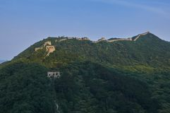 Unrestored section of the Great Wall of China, Zhuangdaokou, Beijing, China royalty free stock images