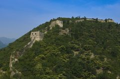 Unrestored section of the Great Wall of China, Zhuangdaokou, Beijing, China royalty free stock image