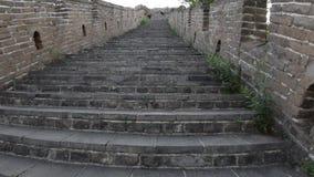Unrestored sekcja wielki mur Chiny, Zhuangdaokou, Pekin, Chiny zbiory