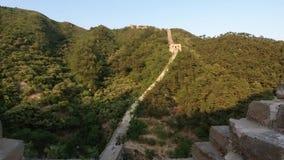 Unrestored sekcja wielki mur Chiny, Zhuangdaokou, Pekin, Chiny zbiory wideo