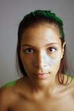 unretouched предназначенное для подростков latina красивейшего headshot сырцовое Стоковое Изображение RF
