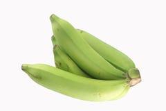 Unripe Banana. On white background stock photography