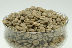 Unroasted coffee beans Royalty Free Stock Images