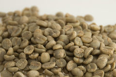 Unroasted coffee beans Royalty Free Stock Photography