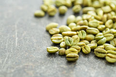 Unroasted coffee beans Stock Images