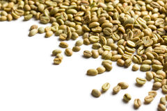 Unroasted coffee beans Stock Image
