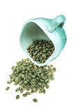 Unroasted fresh dried coffee bean Royalty Free Stock Image