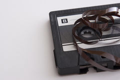 Unroll tape cassette Stock Photo