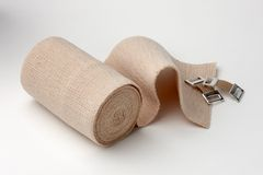 Unrolled ace bandage Royalty Free Stock Images