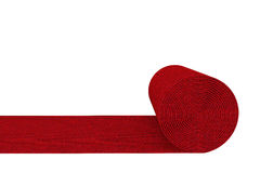 Unrolled red carpet Royalty Free Stock Photos