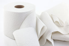Unrolled toilet paper Royalty Free Stock Image