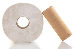 Unrolled toilet paper Royalty Free Stock Photography