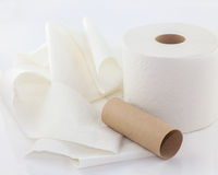Unrolled toilet paper Royalty Free Stock Photo