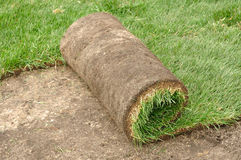 Unrolling Sod Royalty Free Stock Photos