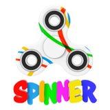Unruhe-Finger-Spinner-Antistress Spielzeug Wiedergabe 3d Lizenzfreie Stockbilder