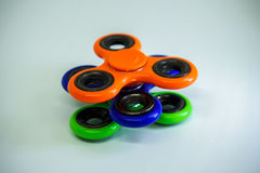 Unruhefinger-Spinnerdruck, Angstentlastungsspielzeug Lizenzfreies Stockbild