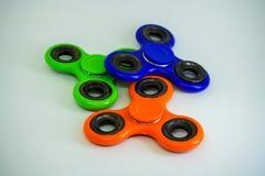 Unruhefinger-Spinnerdruck, Angstentlastungsspielzeug Stockbilder